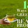 18 maneras de utilizar el té verde como un producto de belleza