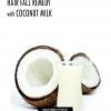 Caída del pelo / del pelo remedio de pérdida con leche de coco