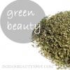 Belleza con té verde