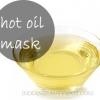 Bricolaje mascarilla de aceite caliente para una piel radiante