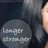 Largo pelo, fuerte y saludable