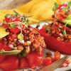 Receta: Saludable Seta y arroz rojo Pimientos Rellenos mexicanos